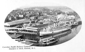 Canadian Pacific Railway company's steamers in dock at Victoria.