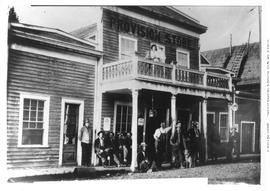 Group Of Pioneers In Front Of The Provision Store In Barkerville; Showing D. Southam.