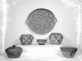 Otherwise unidentified indian baskets.