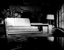 A beautiful piano-forte in the lounge of the Yellow Point Lodge, Ladysmith.