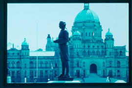 The legislative buildings in Victoria.