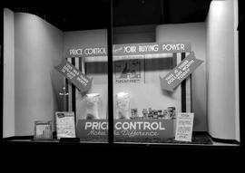 """Price Control Makes a Difference""; window display at the Hudson's Bay Company, Vi..."