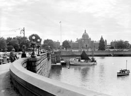 Victoria Harbour Scene; The Legislative Buildings And The Causeway.