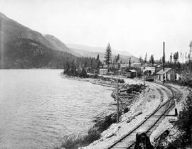 """Moyie Lake looking northeast towards Moyie City, BC"""