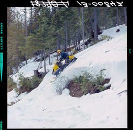Snowmobiling On Boulder Mountain.