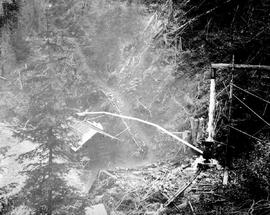 Water blast at the Jumbo Mine, Rossland.