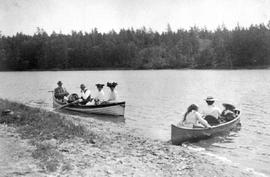Two group in rowboats at Craigflower; A.D. Crease Collection, Box 1.