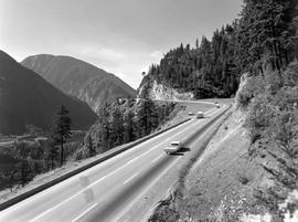 Highway 1 in the Fraser Canyon at Jackass Mountain Summit.