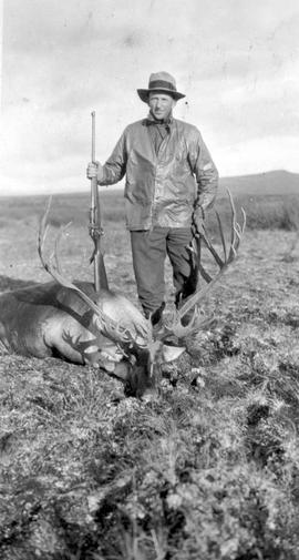 George Ball, Glenora, BC, Mike and his second caribou.