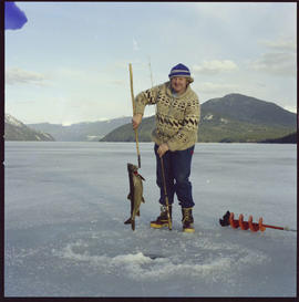 Ice Fishing In Quesnel Lake