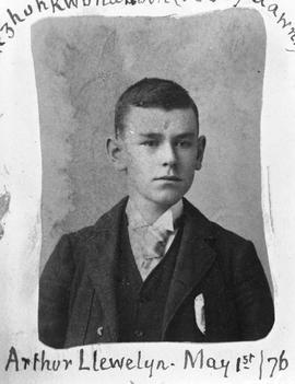 """Arthur Llewelyn, May 1st/76""; son of Reverend and Mrs. E.F. Wilson."