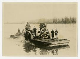 The SS Union; the first threshing machine in Burnaby; on the Fraser River near New Westminster.