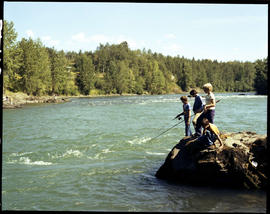 Children fishing Bulkley River Telkwa