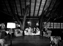 The lounge of the Yellow Point Lodge, Ladysmith.