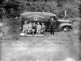 Cup winners, Saanich ARP with their ambulance.