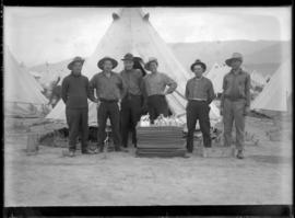 Soldiers Wearing Camp Clothes, Vernon