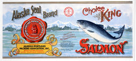 """Alaska Seal Brand Choice King Salmon, Packed by Alaska Portland Packers Association Inc."""