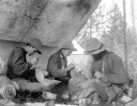 Survey crew in camp at the Kettle River.
