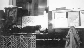 """An Applicant for Government Annuity""; one of the sitdowners asleep on the counter of t..."