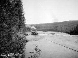 Lining the SS Chilco in the Isle de Pierre Canyon, on the Nechako River.