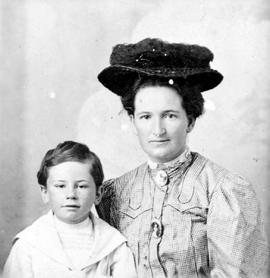 Nellie McClung and her son.