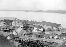 The Prince Rupert Hotel And Grand Trunk Pacific Railway Docks.