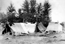 Chinese labourers camp near Kamloops; railway workers.