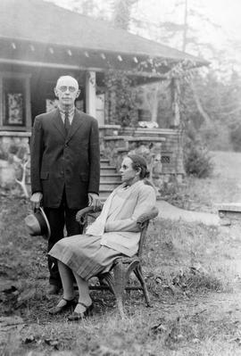 Mr. and Mrs. D. Stephenson, ex-chief of police at Departure Bay; pioneers in 1879.