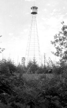 Forest Service; first steel tower lookout in BC, erected in 1930.
