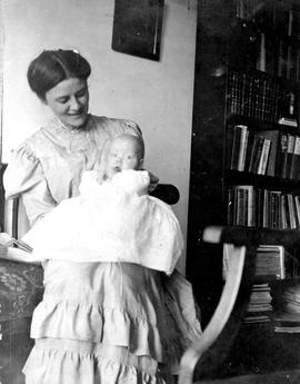 Nellie McClung and child.