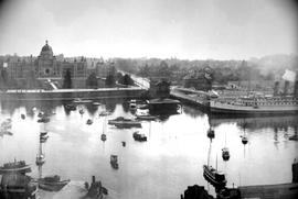 Victoria Harbour; part 3; view looking south from post office; James Bay Athletic Association clu...