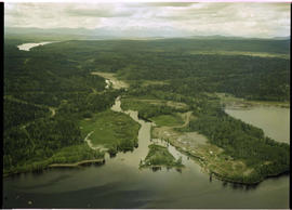 Aerial Fulton Spawning Channel Babine Lake