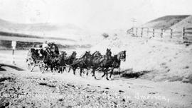 A six-horse stagecoach near Ashcroft.