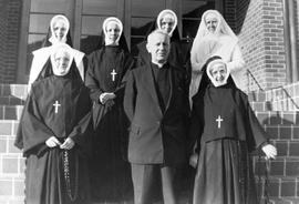 Martin Michael Johnson, Bishop of the Roman Catholic Diocese of Nelson with Sisters of St. Ann