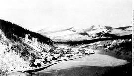 Barkerville, View From Above In Snow.