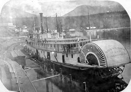 The SS Rossland at Nakusp.