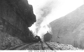 """Clifton, Alaska, W.P. & Y. Ry [Railway]""; White Pass and Yukon Railway."