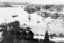[Harbour from parliament buildings, showing JBAA club house]