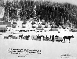 """E.J. Branford and Company, Camborne, BC; freighting on Arrow Lake from Arrow Head to Beaton..."