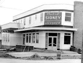 The Hotel Sidney; still under construction