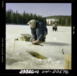 Ice Fishing At Wolverine Lake