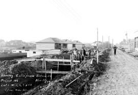 Subdivision under construction, Alder Street, Victoria.