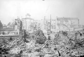 Courthouse in New Westminster after the fire of 10 Sep 1898.