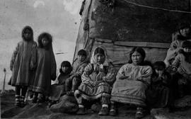 A First Nations family in the Yukon Territory.