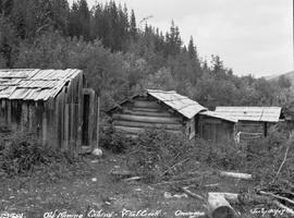 Old mining cabins, Vital Creek, Omineca.