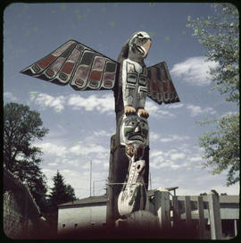 Totem Pole At Courtenay