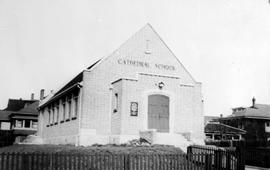 """Cathedral School""; Christ Church Cathedral's Niagara Street Sunday School; north side of Niagara at Medana; P. Leonard James, architect"