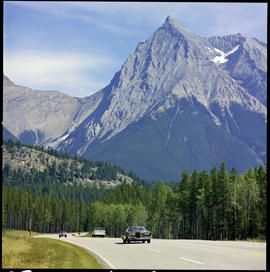 Trans Canada Highway, Yoho National Park, and Mount Chancellor.