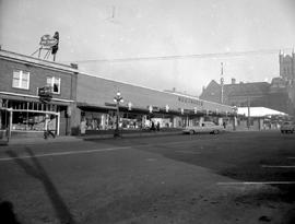 The Woodward's Store on Douglas Street at Broughton, taken from the corner of Douglas and Co...