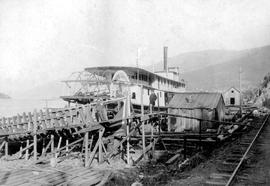 SS Moyie  Being Built At Nelson